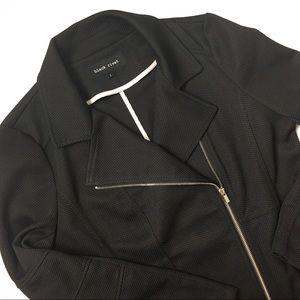 Black Rivet side zip textured blazer